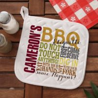 Barbecue Rules Potholder