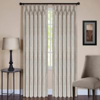 Parker 63-Inch Pinch Pleat/Back Tab Window Curtain Panel in Ivory
