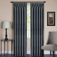 Parker 63-Inch Pinch Pleat/Back Tab Window Curtain Panel in Slate