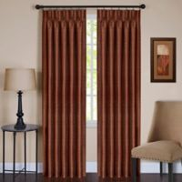 Parker 63-Inch Pinch Pleat/Back Tab Window Curtain Panel in Spice