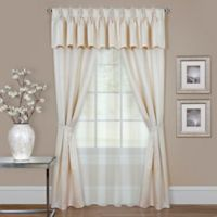 Claire 6-Piece 84-Inch Rod Pocket Window Curtain Set in Ivory