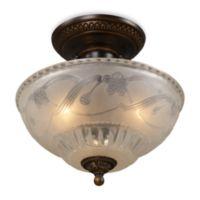 ELK Lighting Restoration 3-Light Semi-Flush Fixture in Golden Bronze