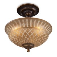 ELK Lighting Restoration 3-Light Semi-Flush Fixture in Antique Golden Bronze