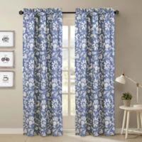 Nouvelle Home Porcelain 2-Piece Curtain Panel Set in Blue/White