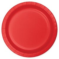 75-Count 9-Inch Paper Plates in Red