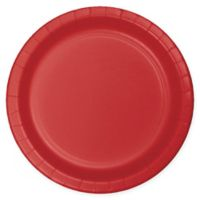 75-Count 7-Inch Paper Plates in Red