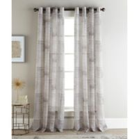 Sherry Kline Casey 96-Inch Rod Pocket/Back Tab Sheer Window Curtain Panel Pair in Natural