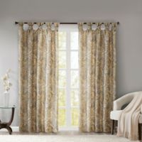 Madison Park Yvette Paisley Printed 63-Inch Twist Tab Window Curtain Panel in Yellow
