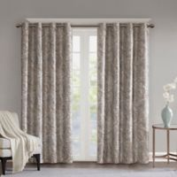 SunSmart Jenelle Paisley 63-Inch Grommet 100% Blackout Window Curtain Panel in Taupe