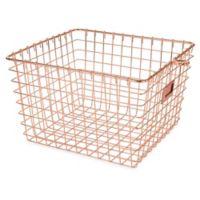 Spectrum® Medium Storage Basket in Copper