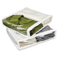 Honey-Can-Do® 4-Pack Zippered Vinyl Storage Bags