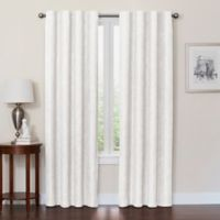 Quinn 63-Inch 100% Blackout Insulated Rod Pocket/Back Tab Window Curtain Panel in White