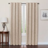 Quinn 84-Inch 100% Blackout Insulated Rod Pocket/Back Tab Window Curtain Panel in Linen