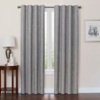 Quinn 84-Inch 100% Blackout Insulated Rod Pocket/Back Tab Window Curtain Panel in Grey