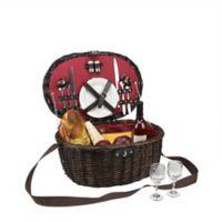 Northlight 14-Piece Picnic Basket Set in Chocolate
