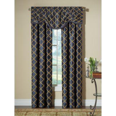 select francesca window curtain valance in blue