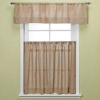 Maison Kitchen Window Valance in Linen