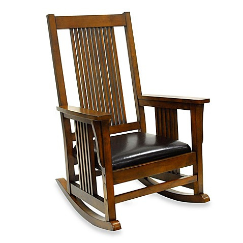 Carolina Chair & Table Company Mission Rocker in Chestnut