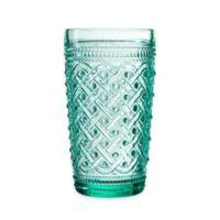 Elle Decor® Bistro Ikat High Ball Glasses in Green (Set of 4)