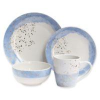 Soiree Swash 16-Piece Dinnerware Set in Blue