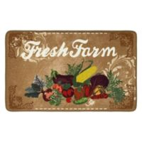 "Fresh Farm 20"" x 32"" Kitchen Mat in Linen"