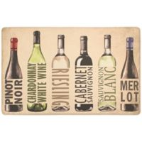"Chef Gear Attention Wine 20"" x 39"" Gelness Anti-Fatigue Kitchen Mat in Beige"