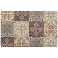 """Kitchen Tile Gelness 20"""" x 39"""" Kitchen Mat in Grey"""
