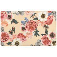 """Spring Bloom Gelness 20"""" x 39"""" Kitchen Mat in Beige"""