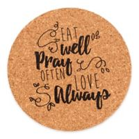 """Precious Moments® """"Eat Well Pray Often Love Always"""" Coasters (Set of 4)"""