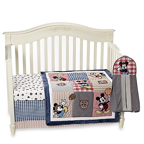 Kidsline Vintage Mickey Mouse 4 Piece Crib Bedding Set