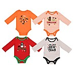 Baby Starters® Size 0-3M and 3-6M 4-Pack My First Holiday See Me Grow Bodysuit Set