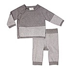 Cuddl Duds® Size 6M 2-Piece Cardigan and Pants Set in Grey