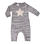 Cuddl Duds® Size 9M Knit Star Coverall in Grey
