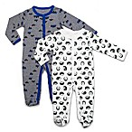 Rosie Pope® Size 6-9M 2-Pack Hedgehogs and Mountains Coveralls