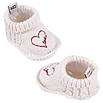 ED by Ellen DeGeneres Size 0-6M Heart Booties in Ivory