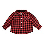 Beetle & Thread Size 3-6M Buffalo Plaid Flannel Shirtzie in Red