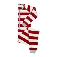 Burts Bees Baby® Large Women's Rugby Stripe Holiday Pajama in Red