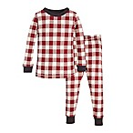 Burt's Bees Baby® Size 12M 2-Piece Buffalo Check Holiday Pajama Set in Red/Ivory