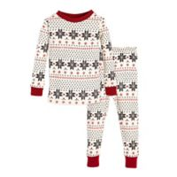 Burt's Bees Baby® Size 18M 2-Piece Snowflake Holiday Pajama Set in Grey