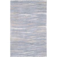 Surya Shibui 4' x 6' Hand-Knotted Area Rug in Blue/Neutral