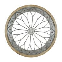 Round Metal and Wood Wall Art