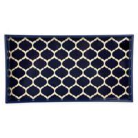 Home Basics® Lattice Vanity Tray in Navy