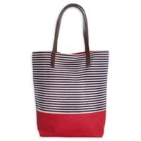 CB Station Seaport Stripes Dipped Tote in Navy/Red
