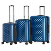 Triforce Luggage Avignon 3-Piece Hardside Spinner Luggage Set in Navy