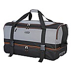 Traveler's Club® XPedition™ 30-Inch Rolling Drop-Bottom Duffle Bag in Black/Orange