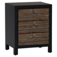 Household Essentials® 3-Drawer Modern End Table in Black