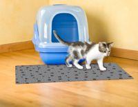 Drymate® Large Cat Litter Box Mat with Black Paw Print