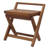 Aquateak Teak Wood Foldable Seat