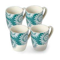 Lenox® Market Place™ Teal Mugs (Set of 4)