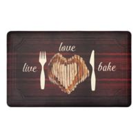 """Live Love Bake"" 20"" x 39"" Kitchen Mat"